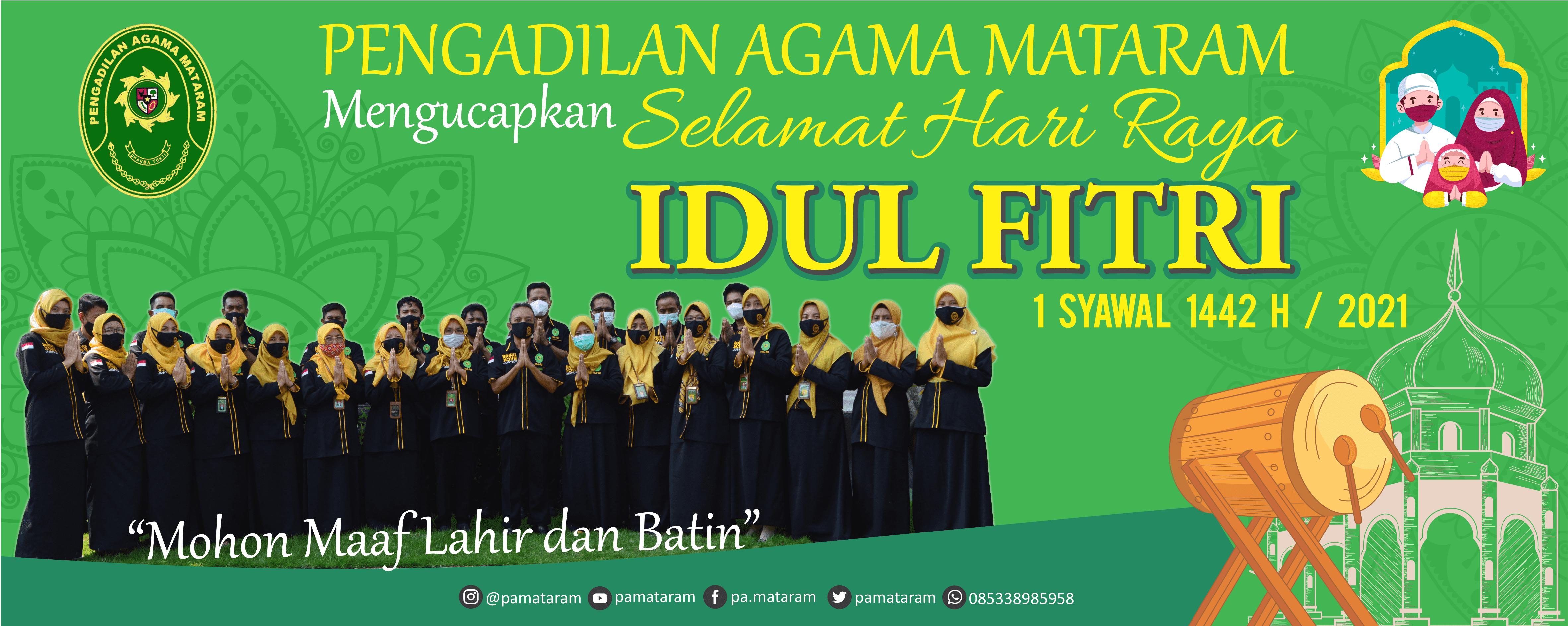 Selamat Hari Raya Idul Fitri 1442H.