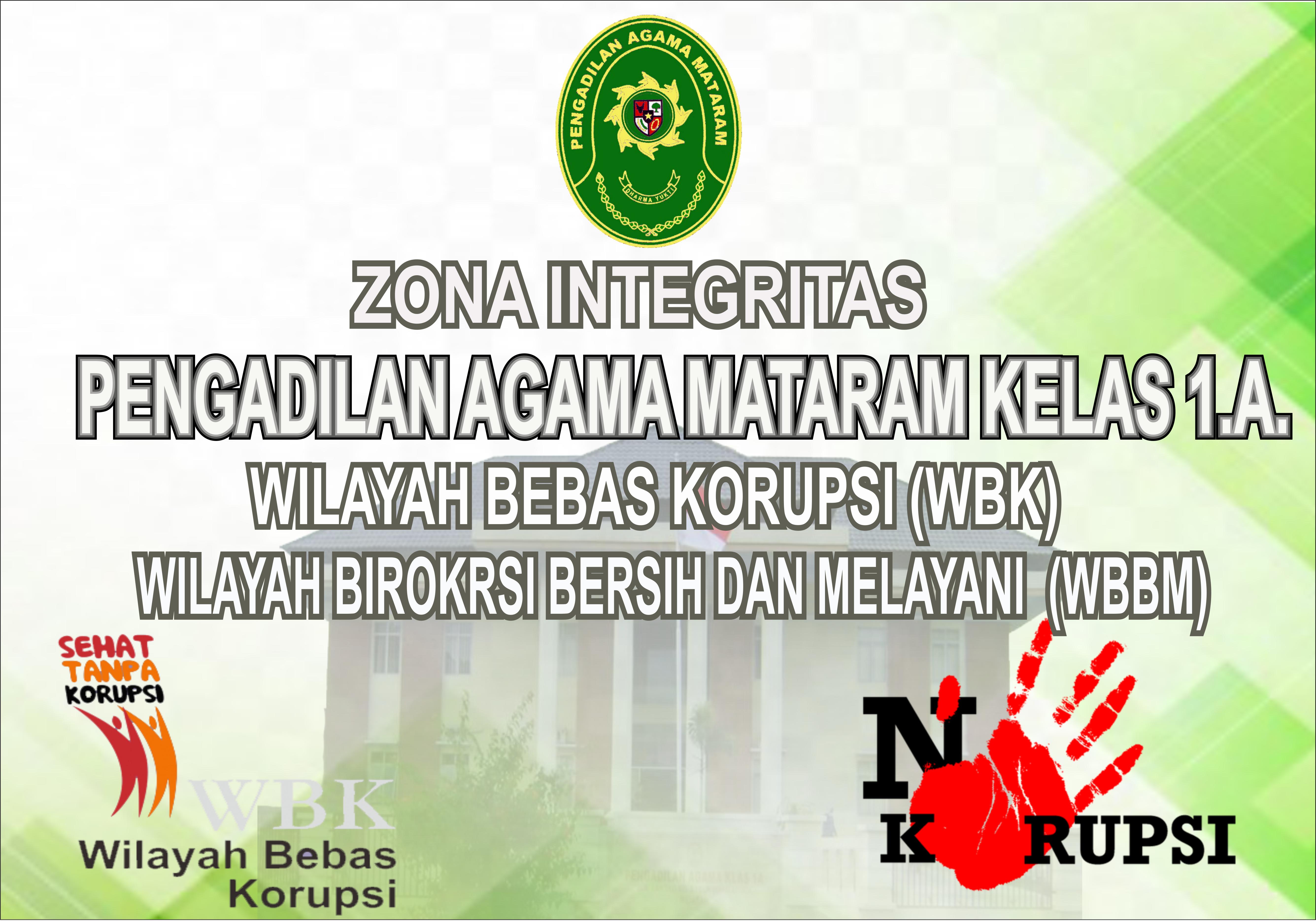 Zona Integritas Pengadilan Agama Mataram Kelas I.A.